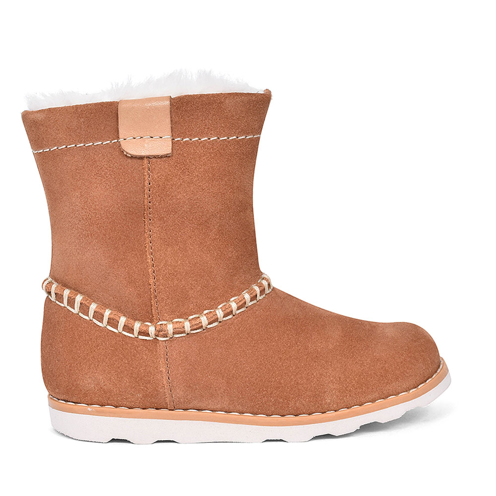 CROWN PIPER TAN SUEDE BOOT FOR GIRLS in KIDS F FIT