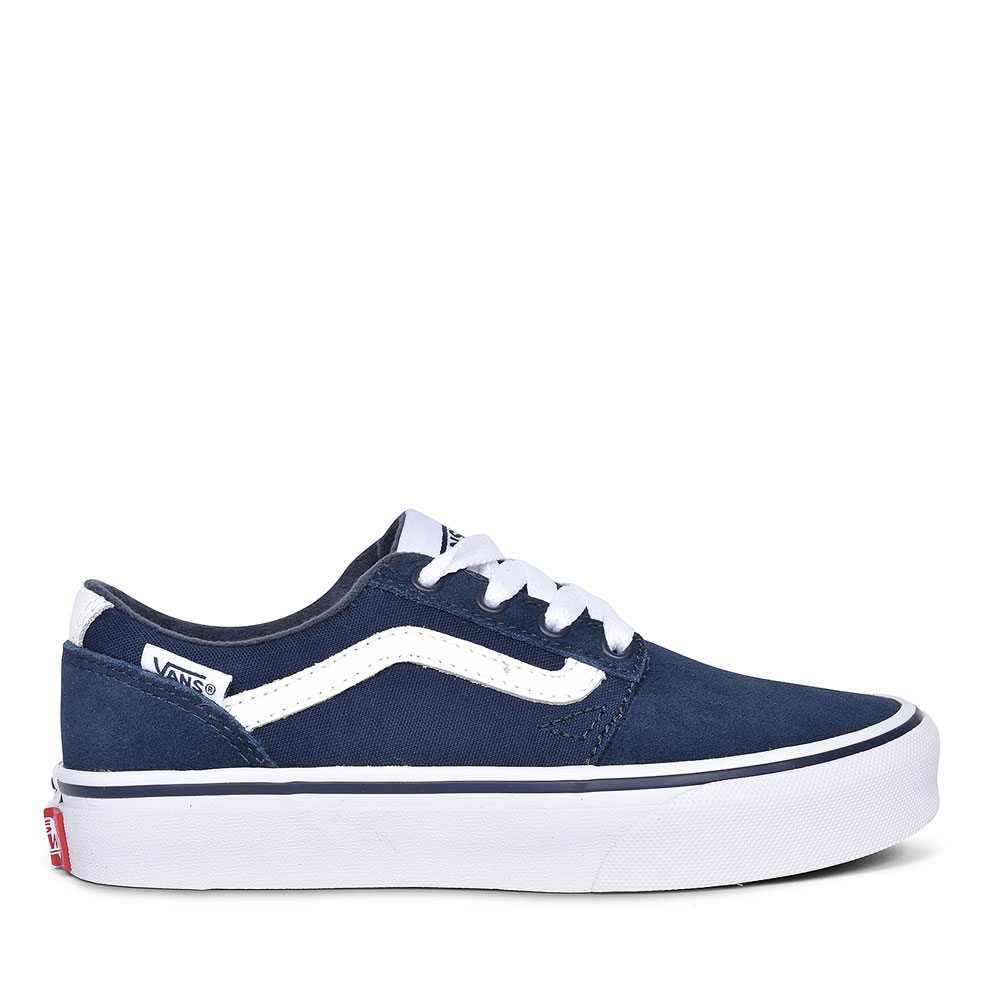 CHAPMAN STRIPE CANVAS AND SUEDE TRAINER FOR BOYS in NAVY
