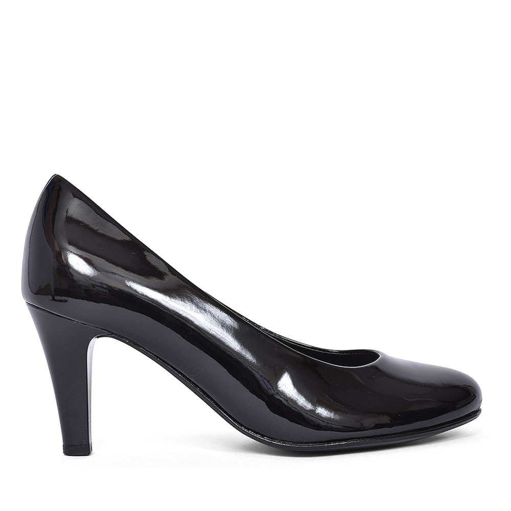 310 COURT SHOE FOR LADIES  in BLK PATENT