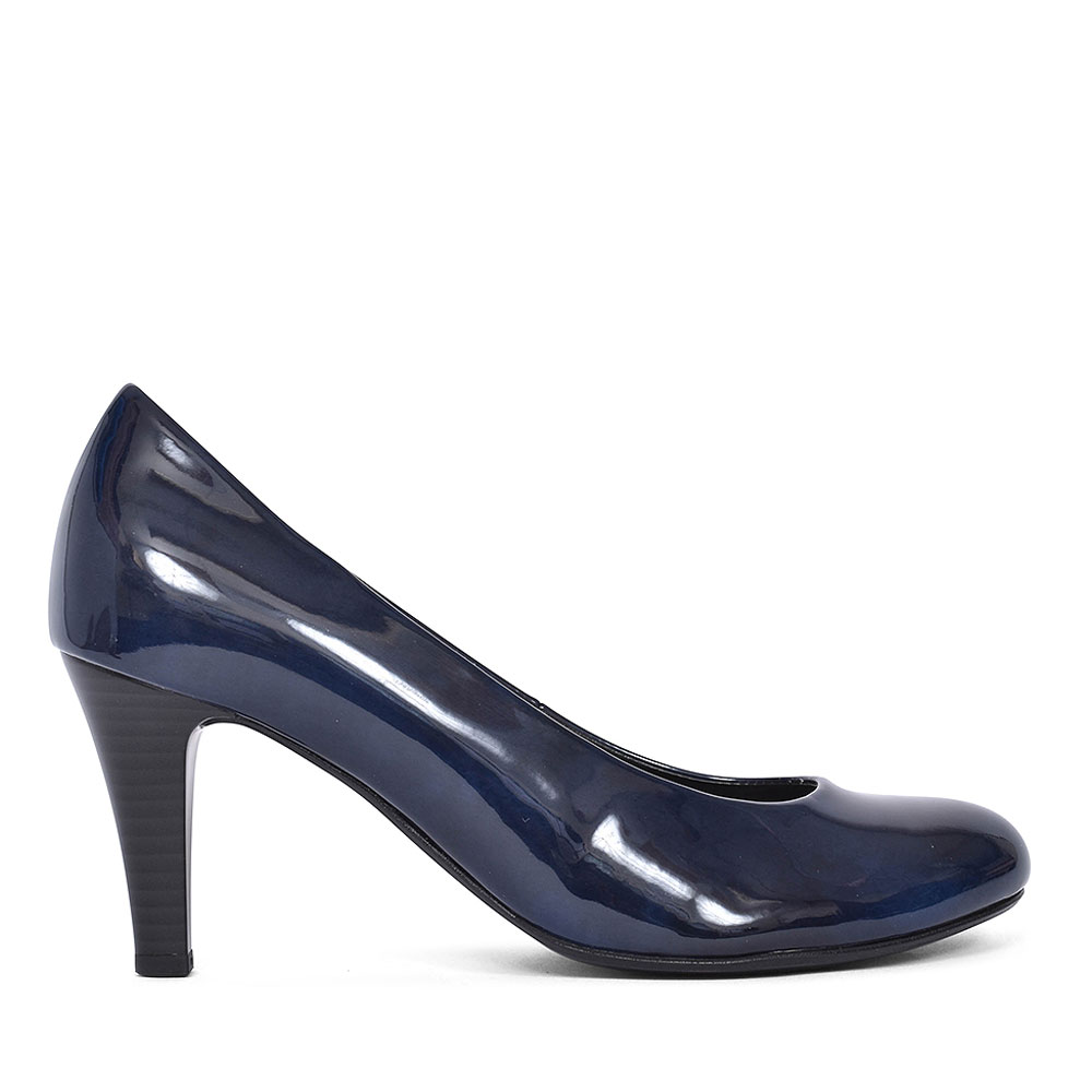310 COURT SHOE FOR LADIES  in NAVY PATENT