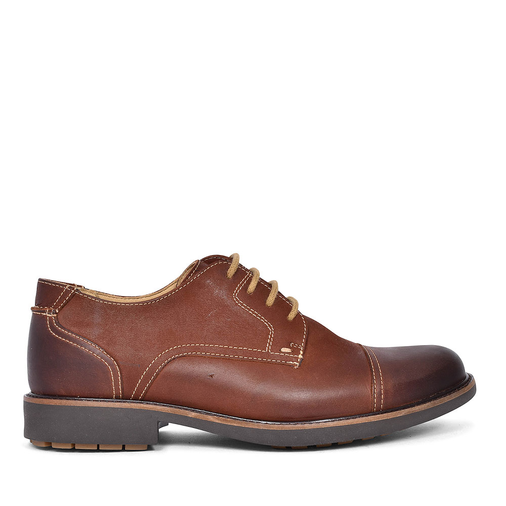 909007 PIMENTA LACE UP SHOE FOR MEN in BROWN