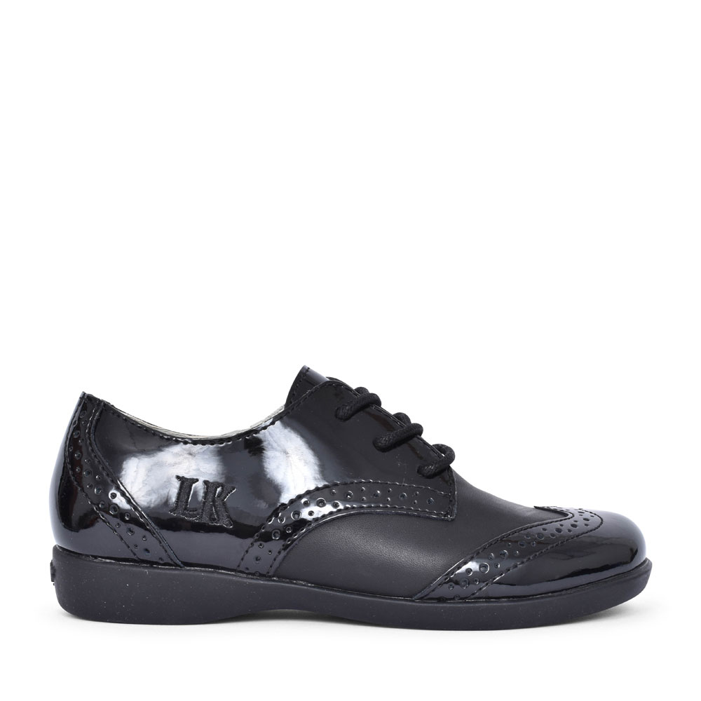 LK8283 BEVERLY BROGUE SHOE FOR GIRLS in BLACK