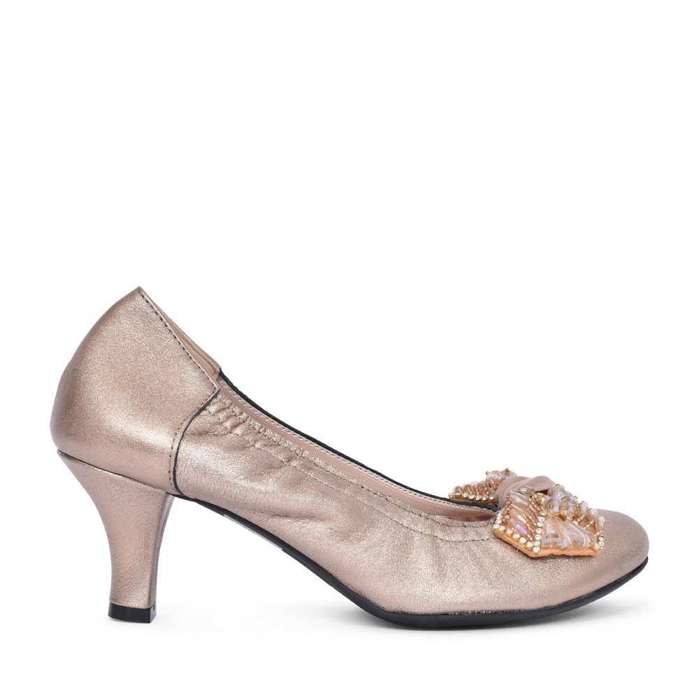 3002 GOLD COURT SHOE FOR LADIES in GOLD