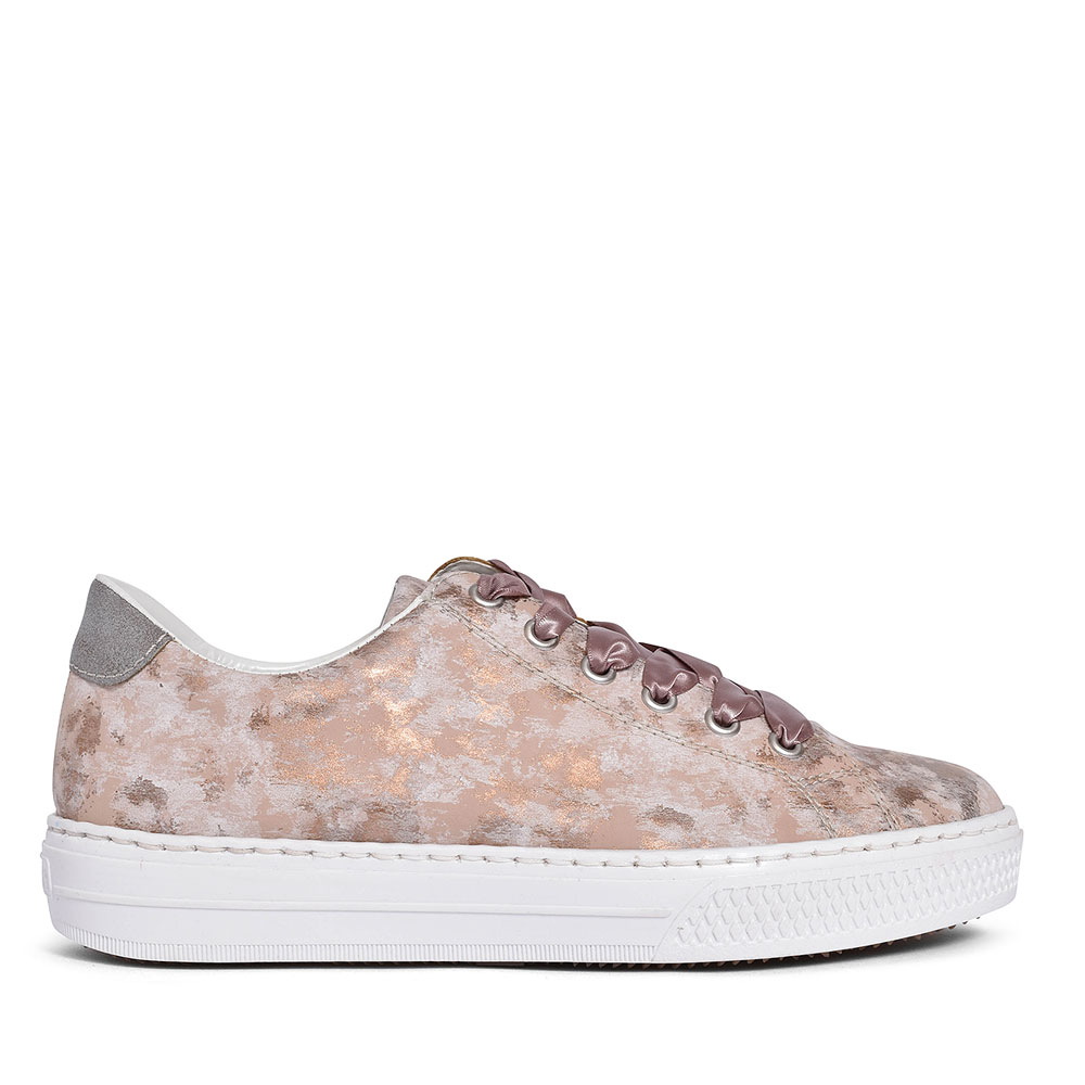L5923 LACE UP TRAINER FOR LADIES in ROSE
