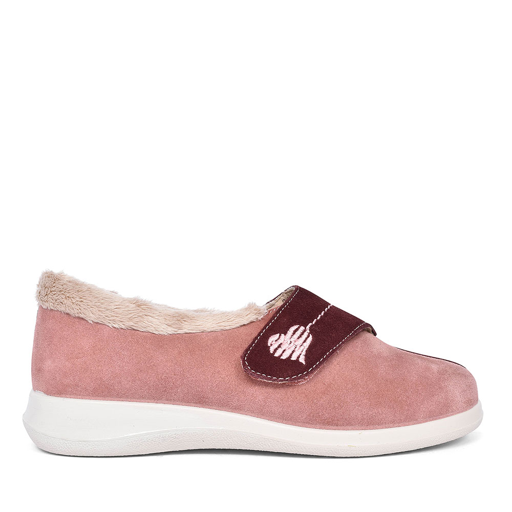 WRAP VELCRO SLIPPER FOR LADIES in PINK