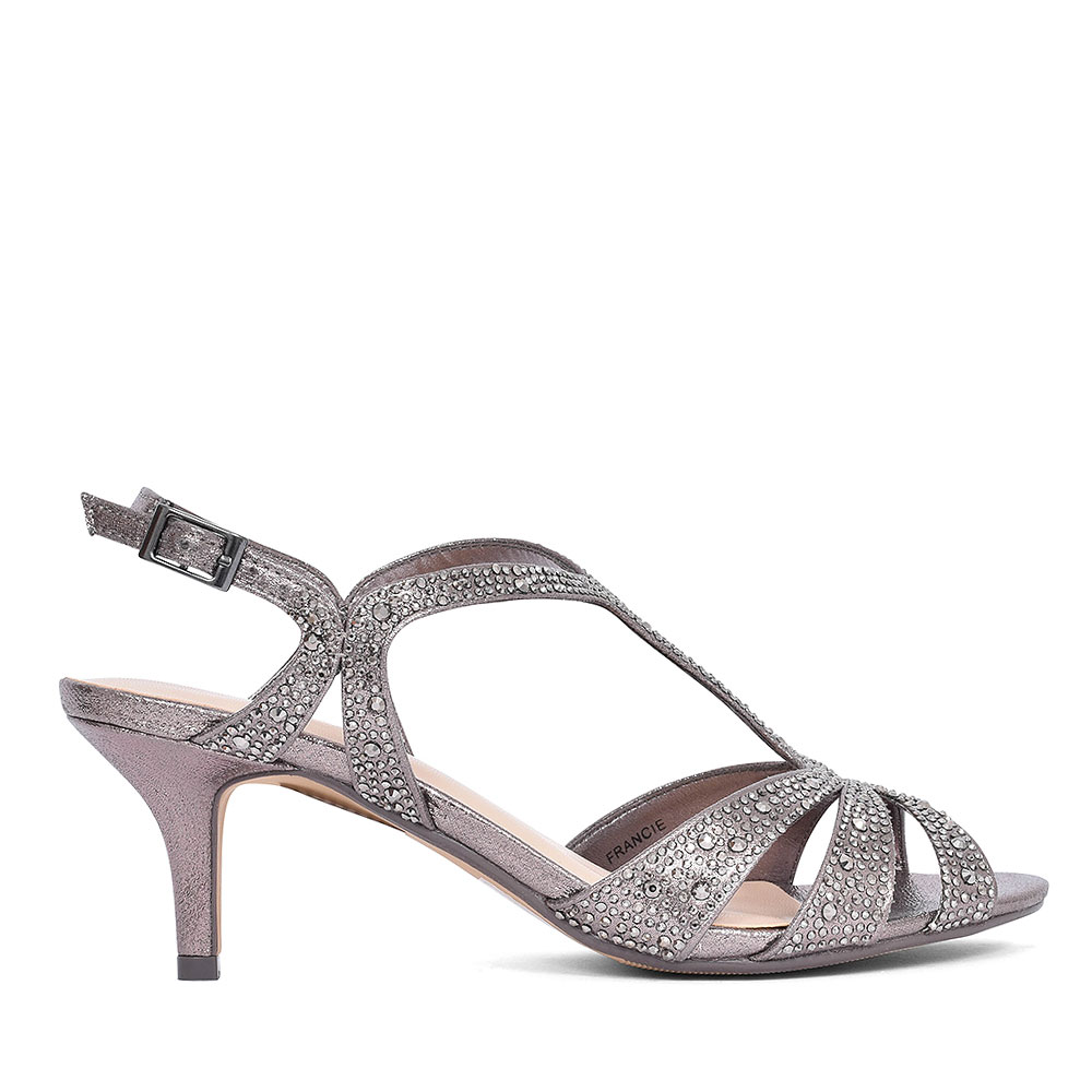 FLR5245 FRANCIE COURT SHOE FOR LADIES in PEWTER