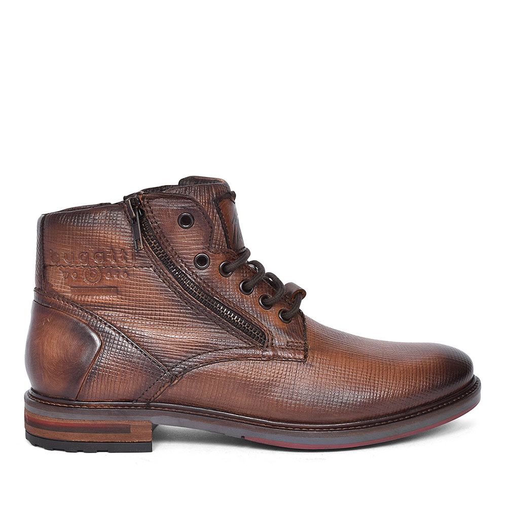 LACE UP ANKLE BOOT FOR MEN in BROWN