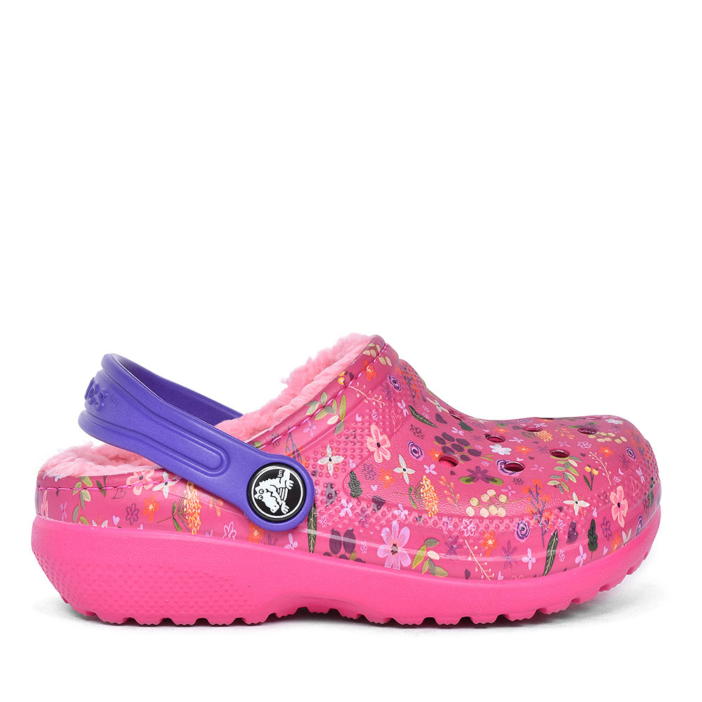 CLASSIC LINED GRAPHIC CLOG SLIPPER in PINK