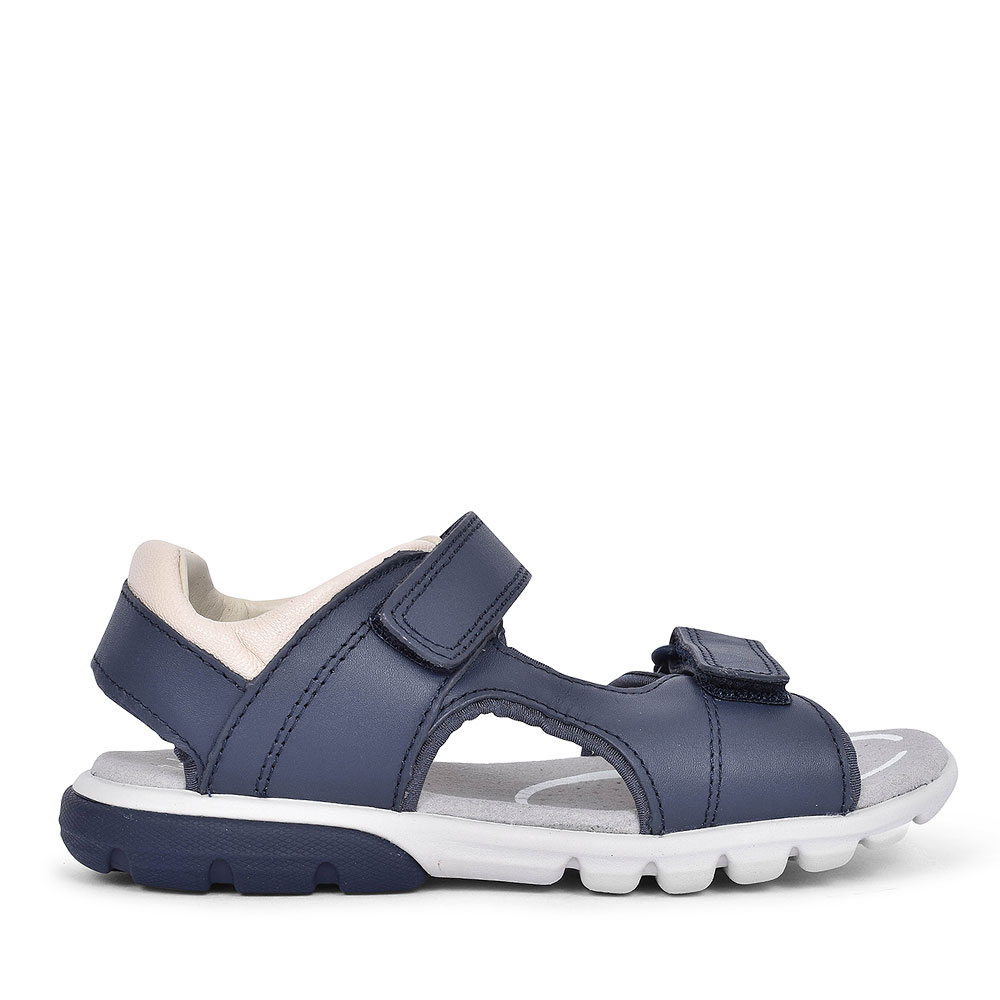 ROCCO WAVE NAVY LEATHER SANDAL FOR BOYS in KIDS G FIT