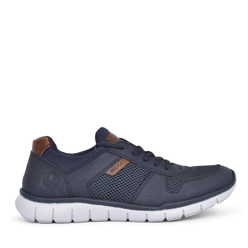 B8773 LACE UP TRAINERS FOR MEN in NAVY