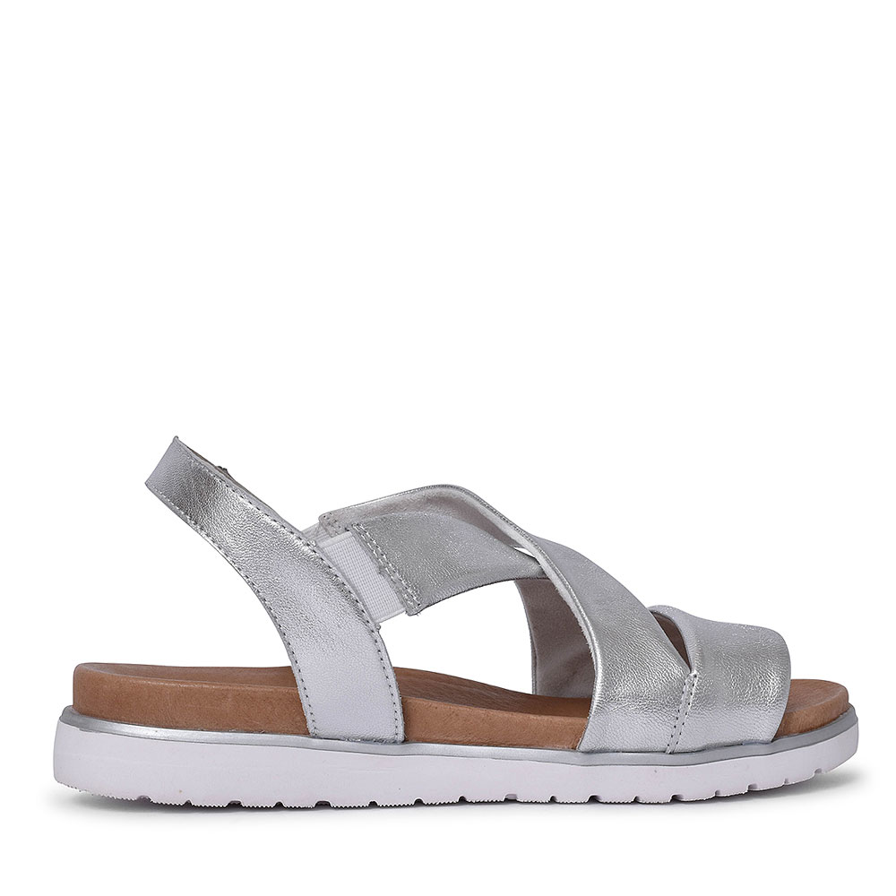 D4059 CROSS OVER SANDALS FOR LADIES in SILVER