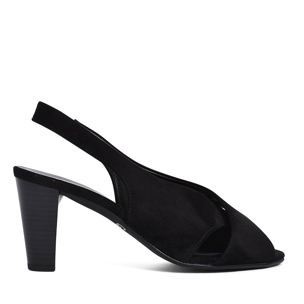 21.831 PEEP TOE SLING BACK SHOE FOR LADIES in BLACK