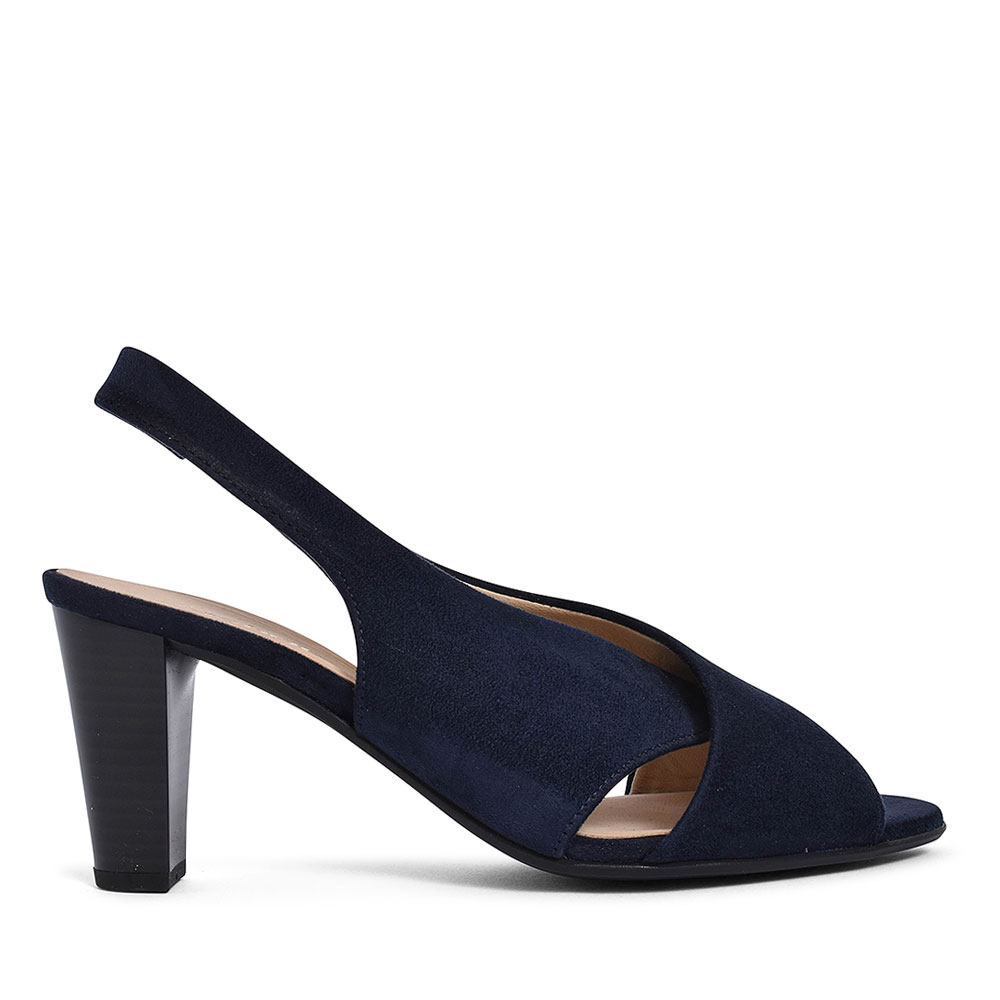 21.831 PEEP TOE SLING BACK SHOE FOR LADIES in NAVY
