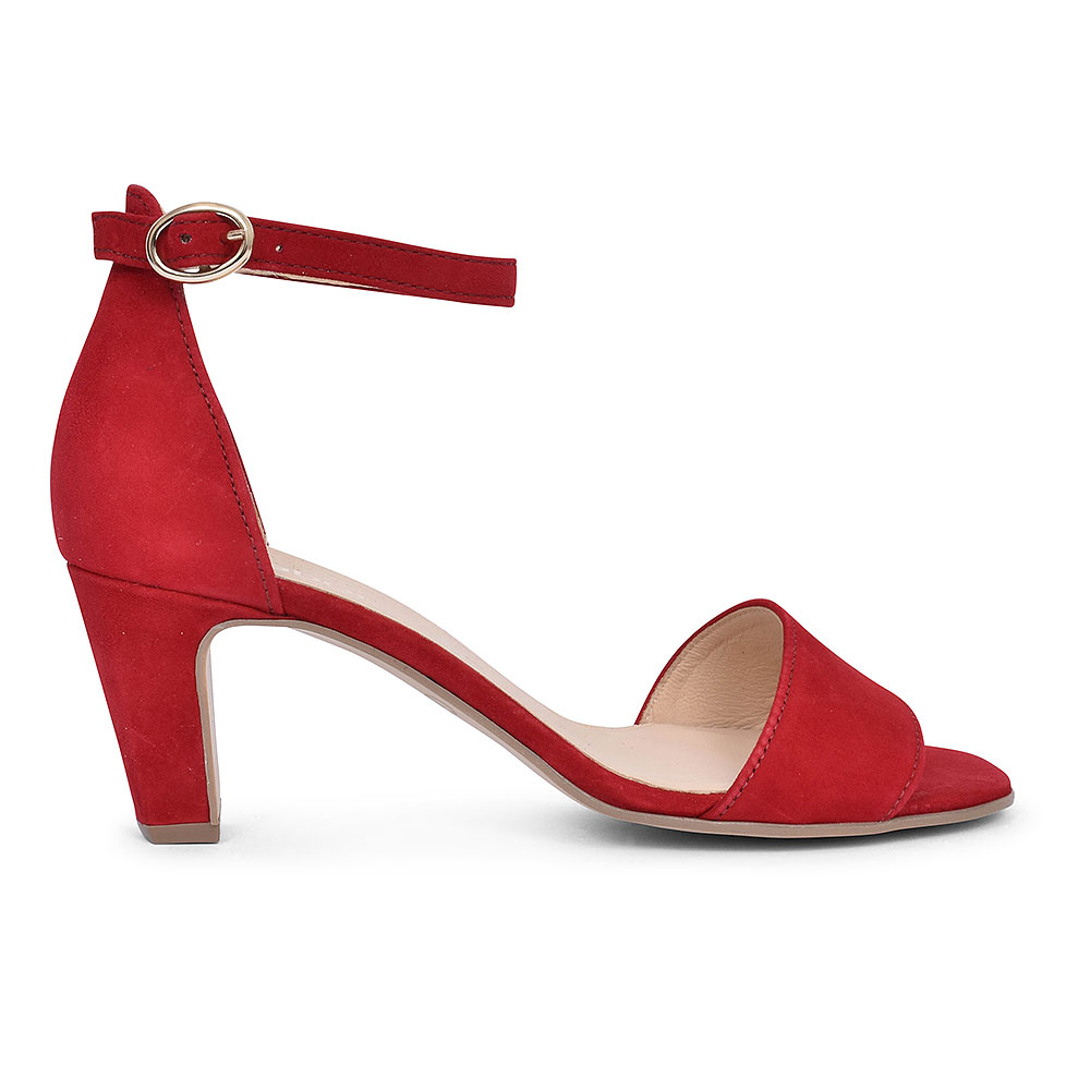 21.860 ANKLE STRAP SANDAL FOR LADIES in RED
