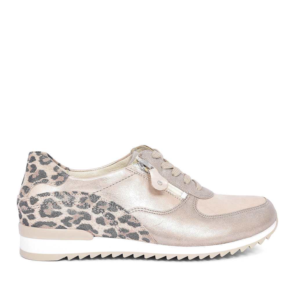370013 HURLY LACE UP TRAINER FOR LADIES in GOLD