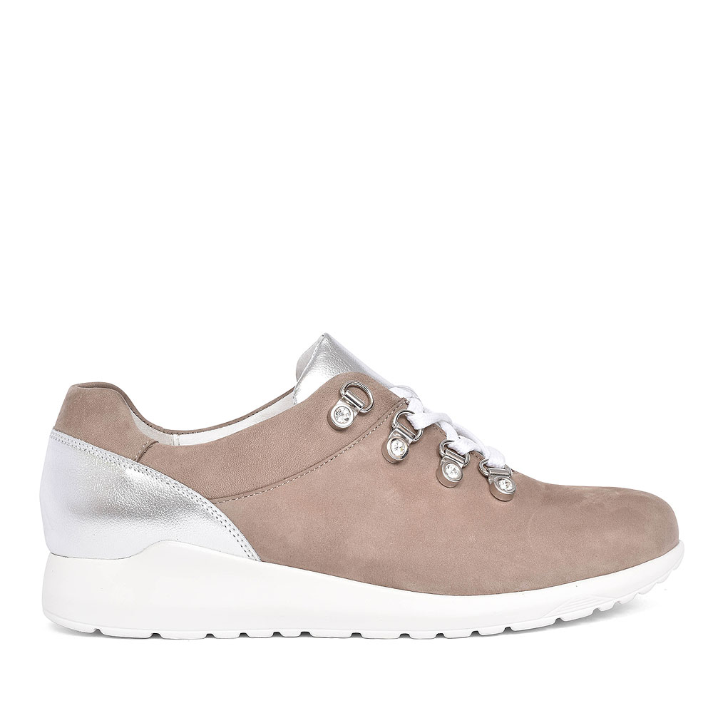 982012 HANU CASUAL TRAINER FOR LADIES in TAUPE
