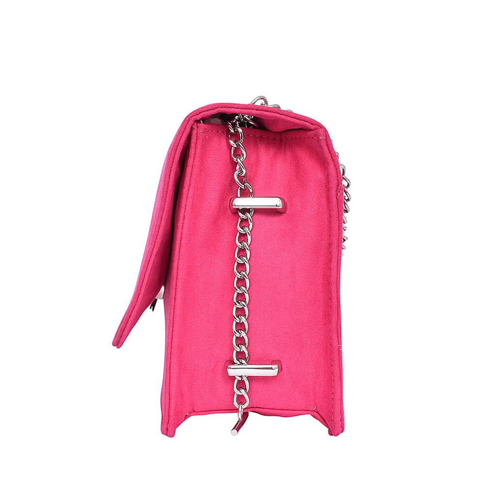 LADIES 2-61003 FOLDOVER CLUTCH BAG  in PINK