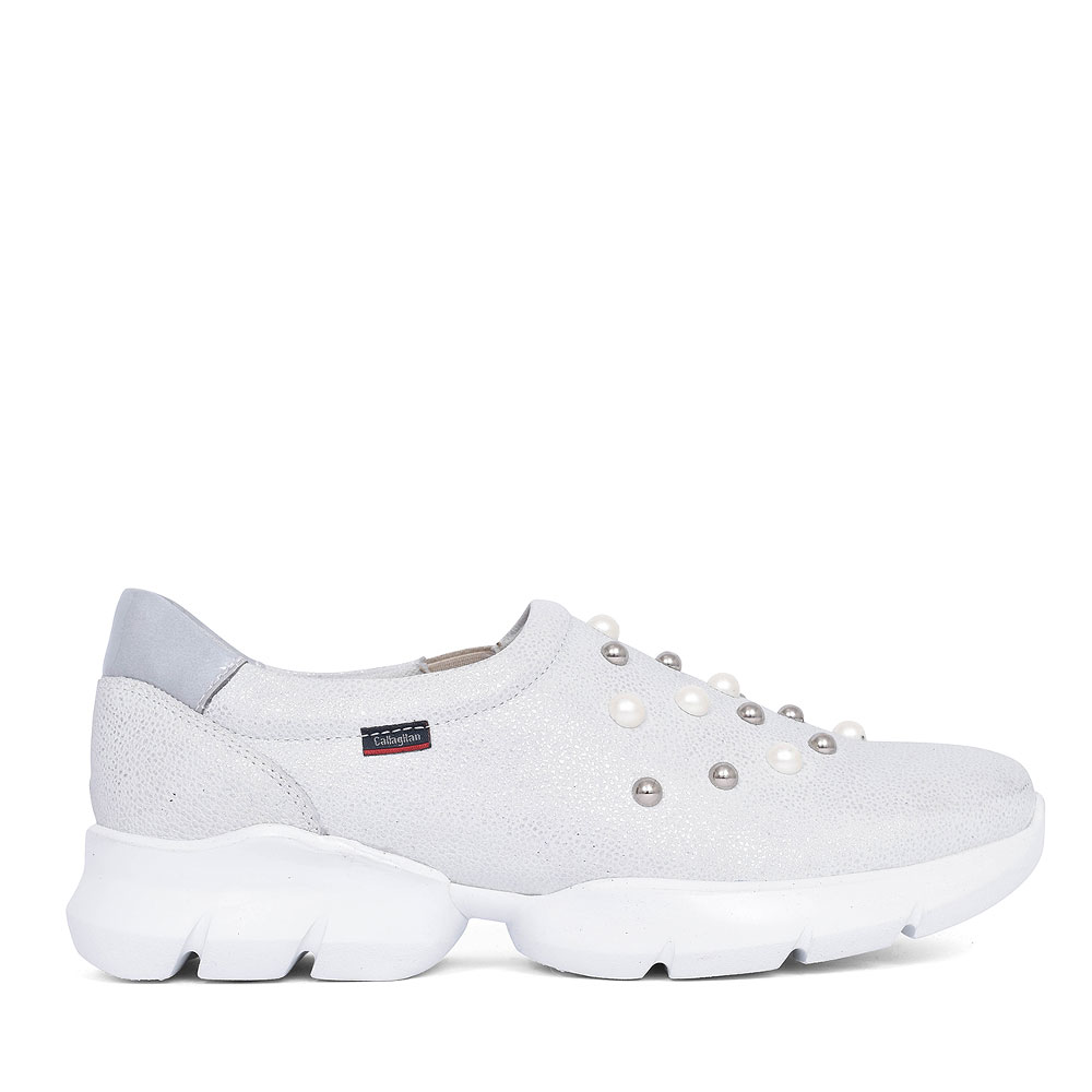 18701 PEARL SLIP ON SHOE FOR LADIES in SILVER