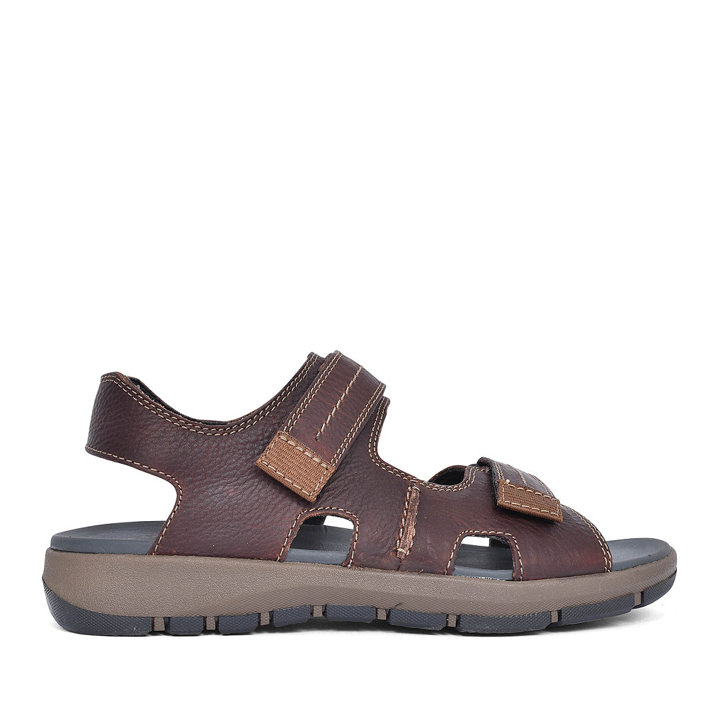 BRIXBY SHORE DARK BROWN LEATHER SANDAL FOR LADIES in DARK BROWN