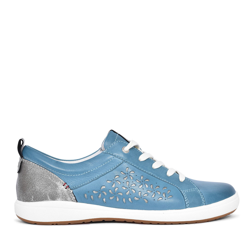 67706 CAREN LACED TRAINER FOR LADIES in TEAL