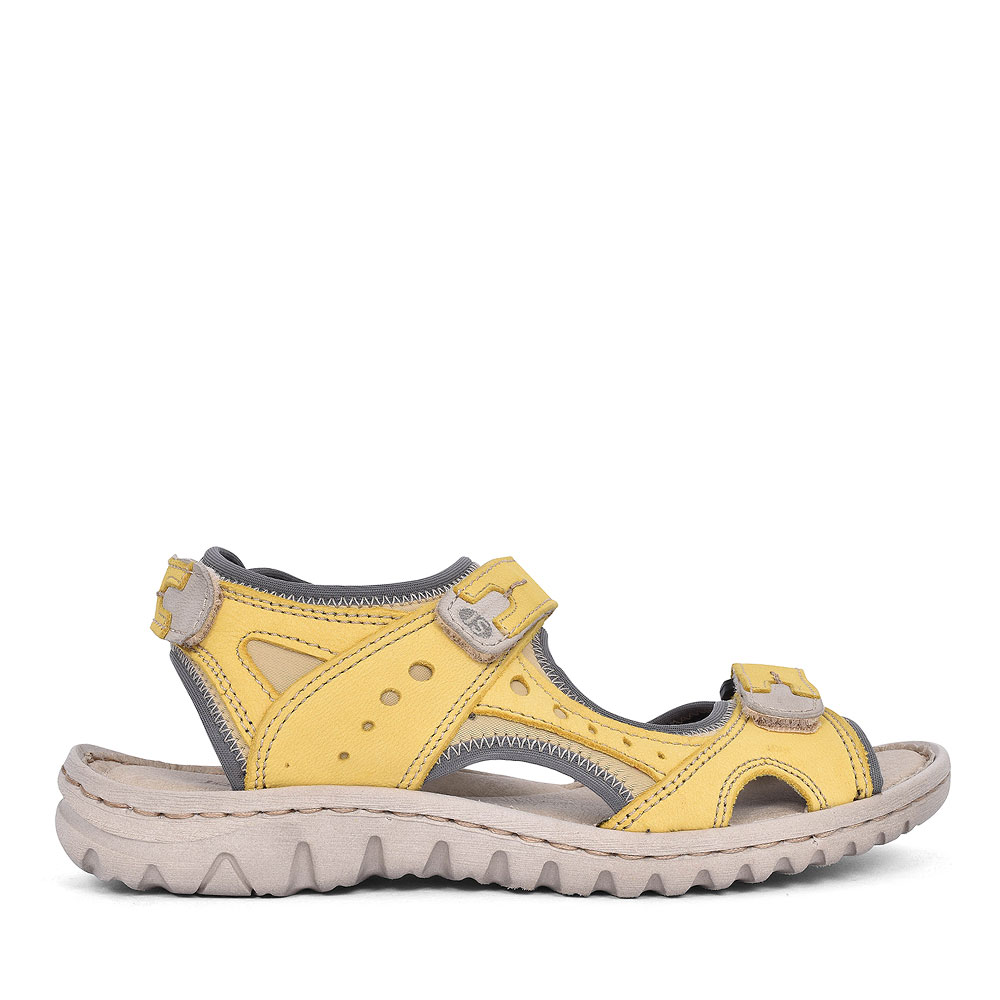 63817 LUCIA VELCRO STRAP SANDAL FOR LADIES in YELLOW