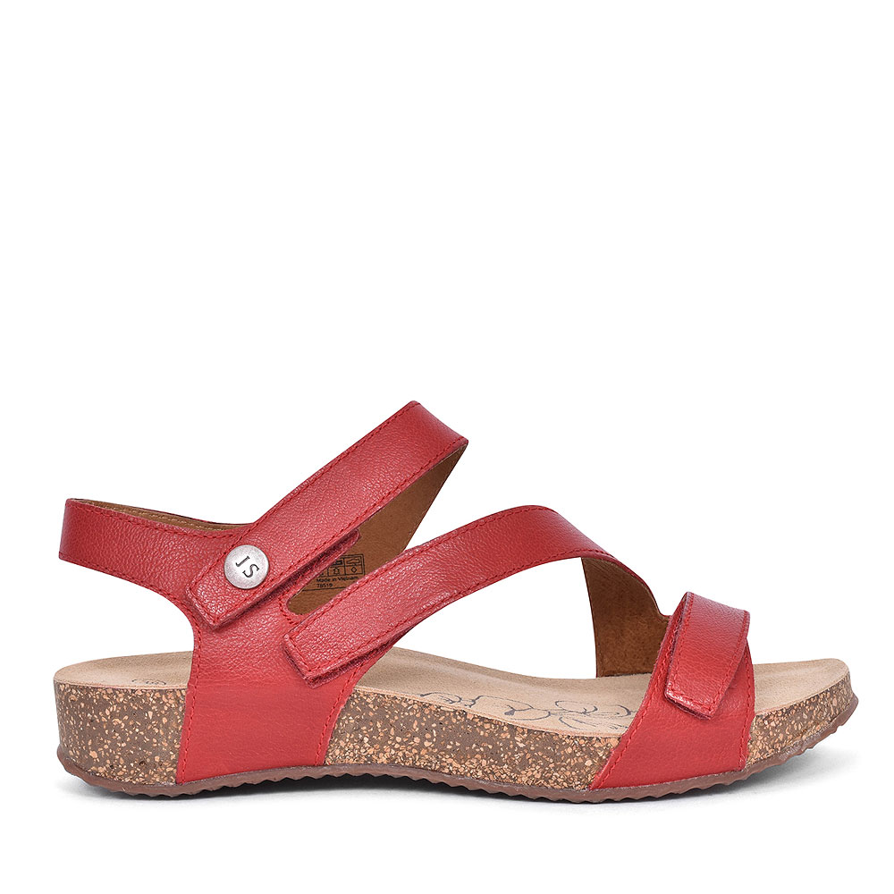 78519 TONGA ANKLE STRAP SANDAL FOR LADIES in RED