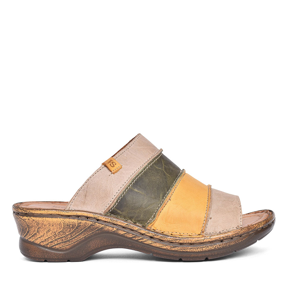 56530 CATALONIA MULE SANDAL FOR LADIES in TAUPE