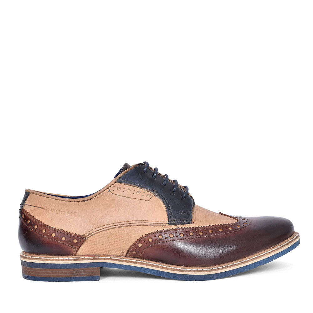 25904 FORMAL LACED BROGUE SHOE FOR MEN in BROWN