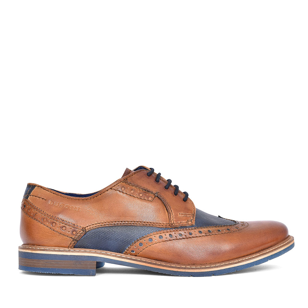 25904 FORMAL LACED BROGUE SHOE FOR MEN in TAN