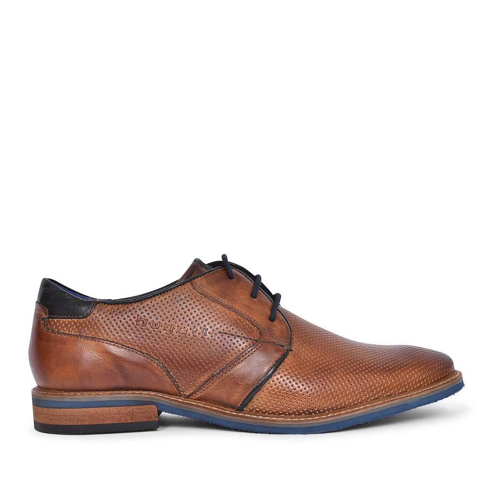 46103 CASUAL LACED OXFORD SHOE FOR MEN in TAN