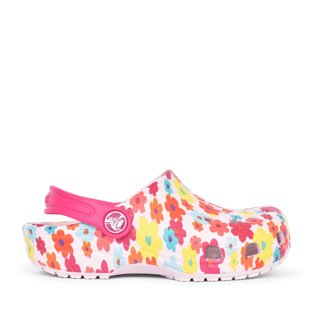 CLASSIC GRAPHIC CLOG FOR GIRLS in PINK