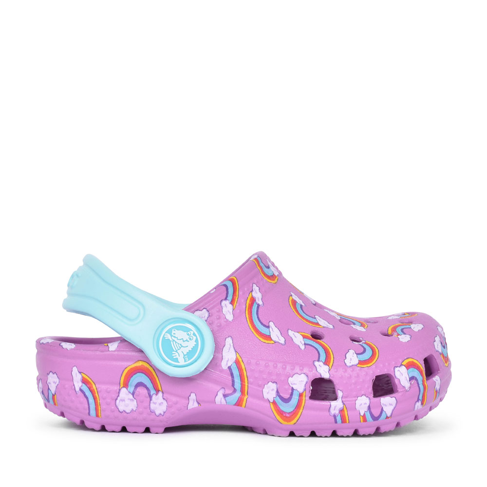 CLASSIC GRAPHIC CLOG FOR GIRLS in PURPLE