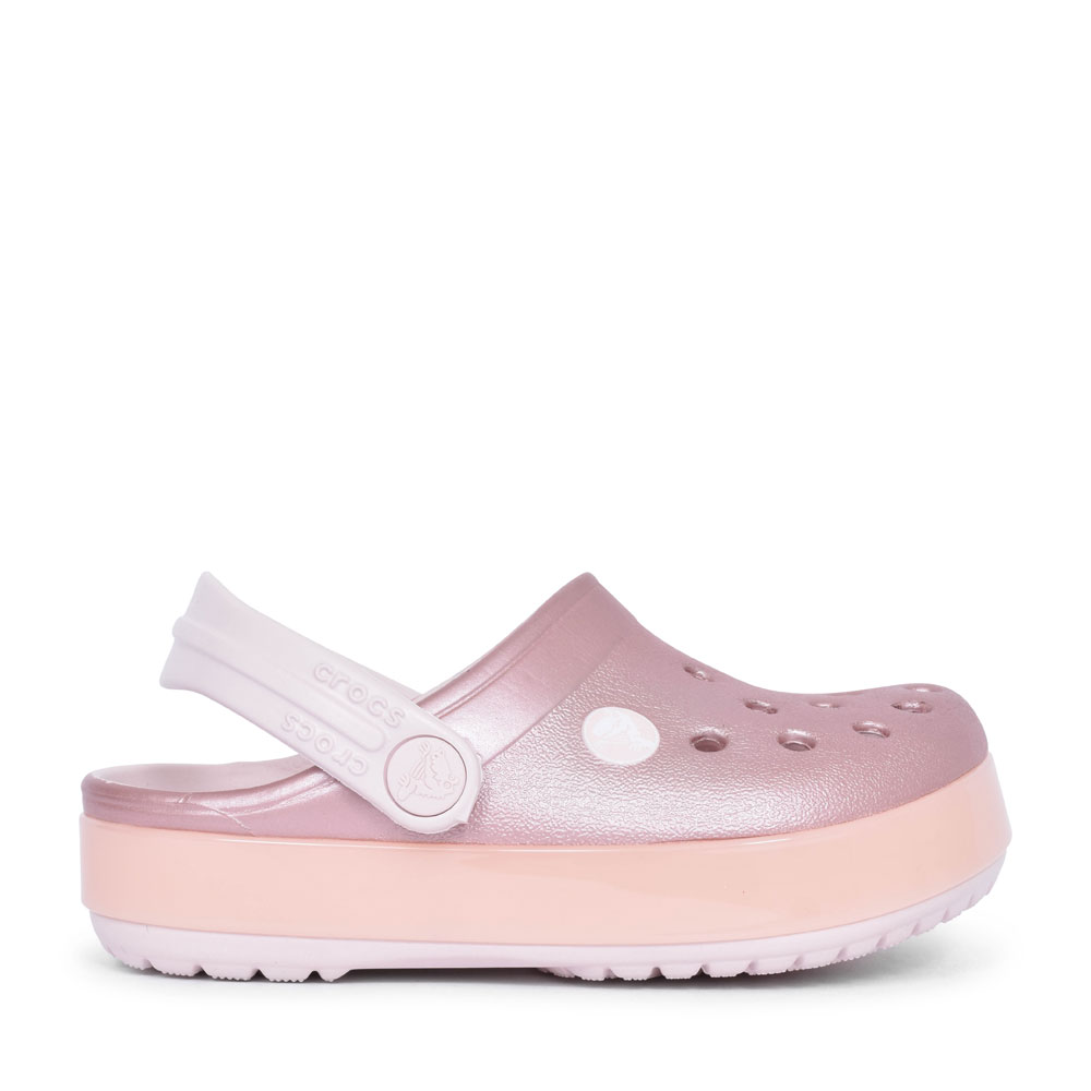CROCBAND ICE CLOG FOR GIRLS in ROSE