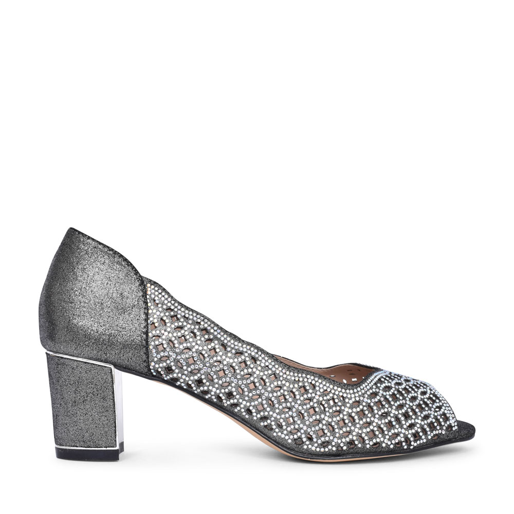 ATTICA PEEP TOE COURT SHOE FOR LADIES in PEWTER