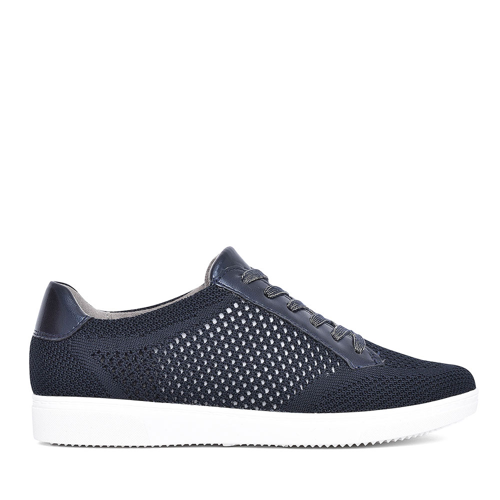 22-54717 CASUAL LACED TRAINER FOR LADIES in NAVY