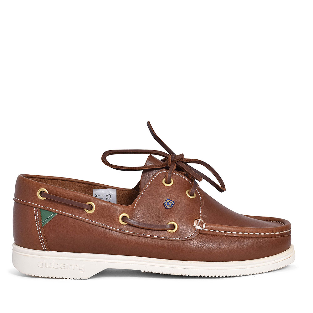 ADMIRALS LEATHER BOAT SHOE FOR LADIES in BROWN