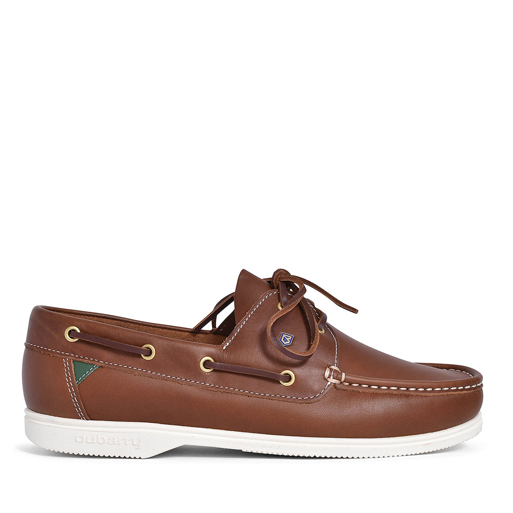 ADMIRALS LEATHER BOAT SHOE FOR MEN in BROWN