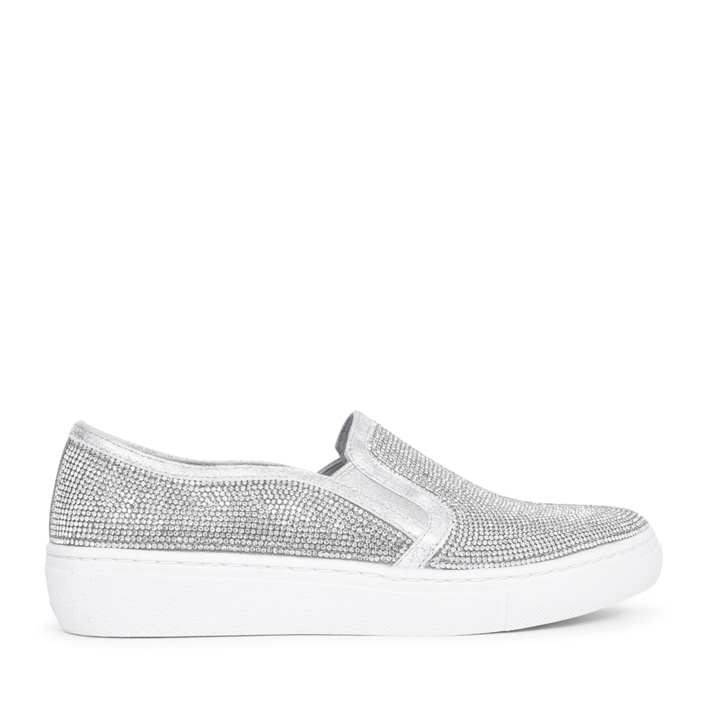 73803 GOLDIE FLASHOW SLIP ON SHOE FOR LADIES in SILVER