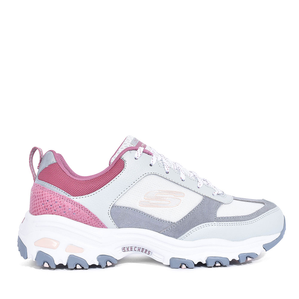 13140 D'LITES LACED TRAINER FOR LADIES in PINK