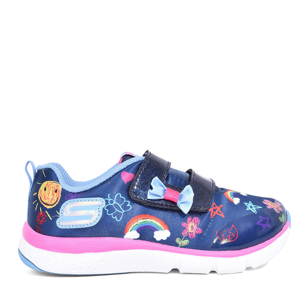 82140N JUMP LITES VELCRO TRAINER FOR GIRLS in NAVY