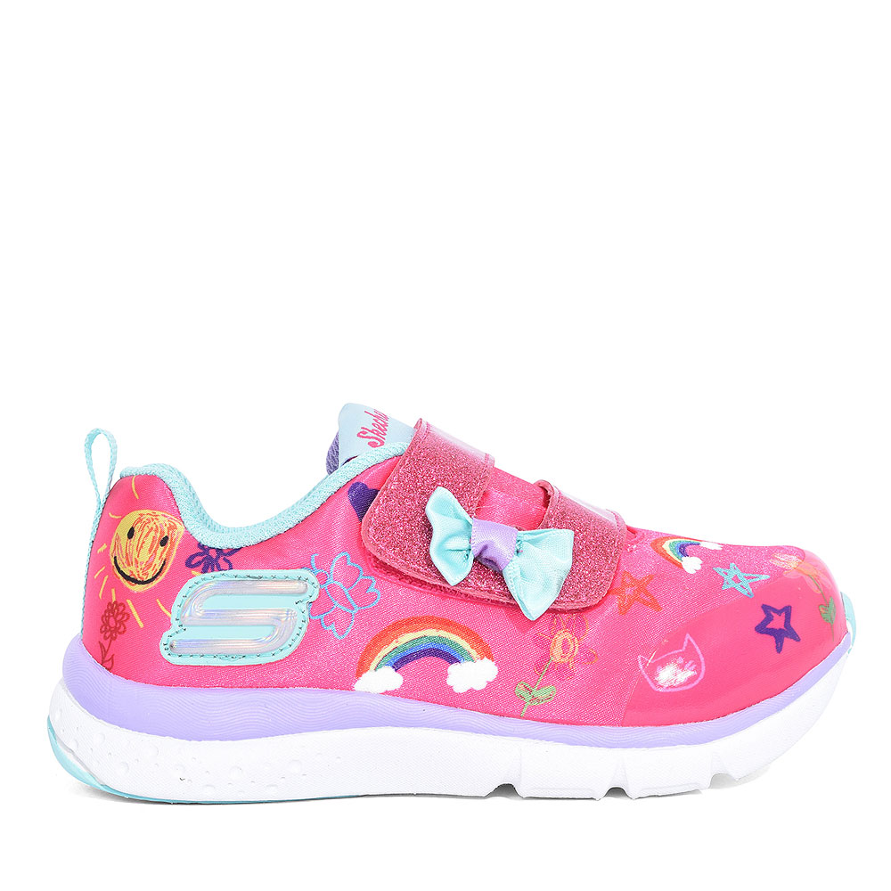 82140N JUMP LITES VELCRO TRAINER FOR GIRLS in PINK