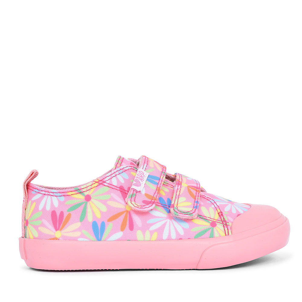 FLORAL VELCRO SHOE FOR GIRLS in MULTI-COLOUR