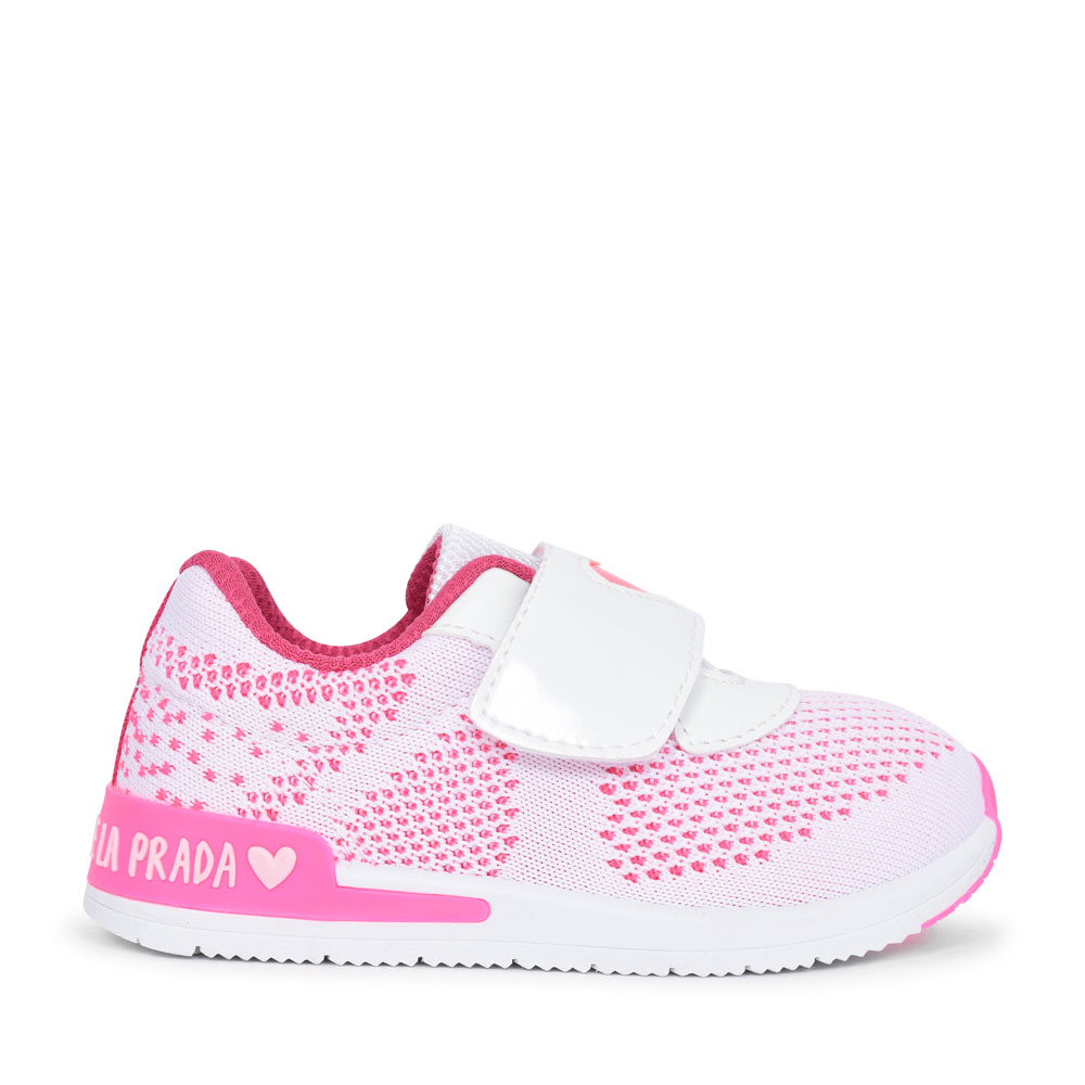MESH VELCRO SHOE FOR GIRLS in WHITE