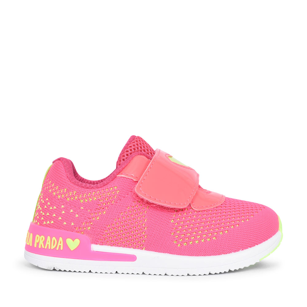 MESH VELCRO SHOE FOR GIRLS in PINK
