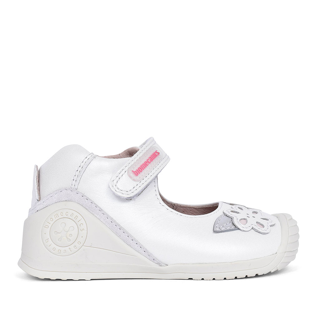 192112 LEATHER MARY JANE SHOE FOR GIRLS in WHITE