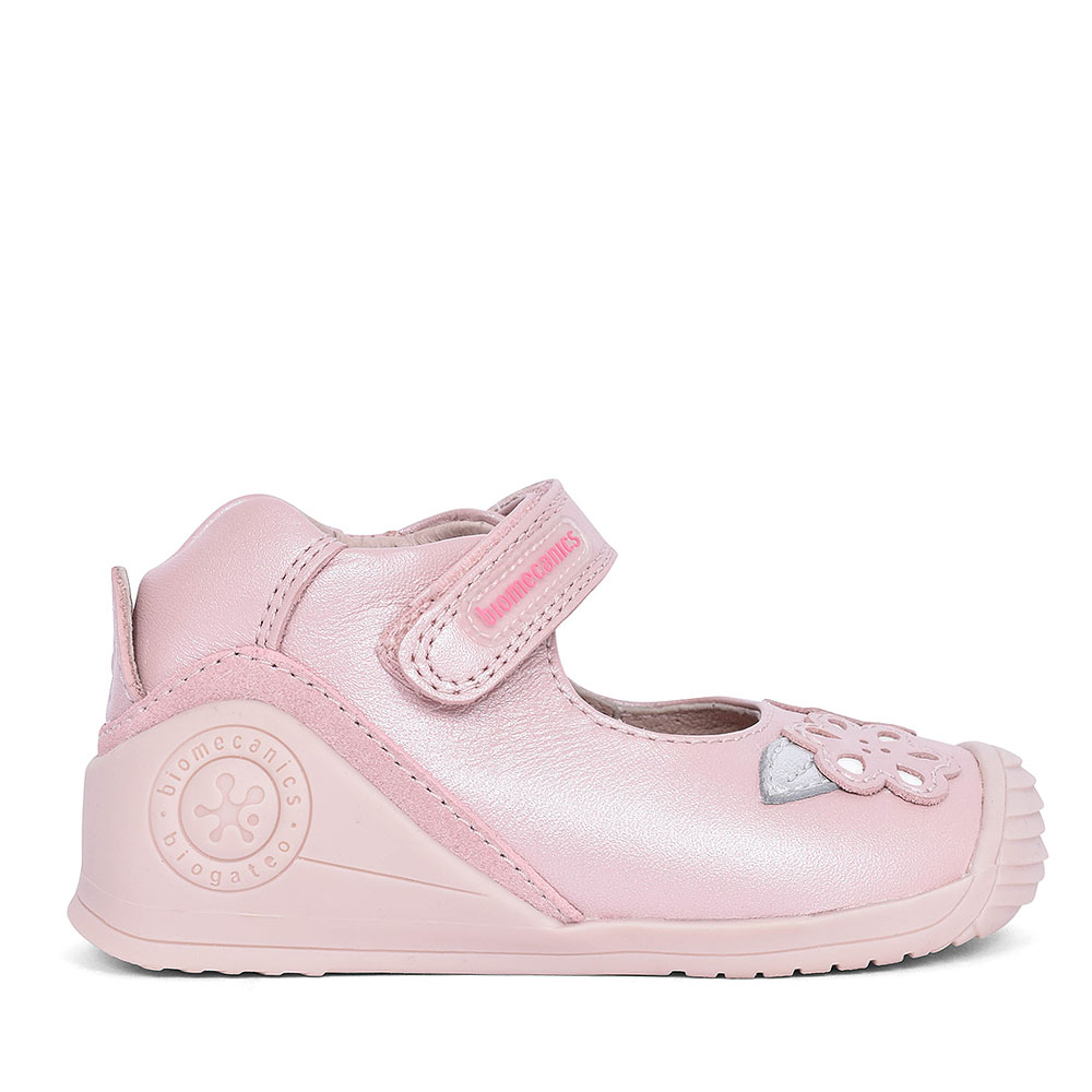 192112 LEATHER MARY JANE SHOE FOR GIRLS in PINK