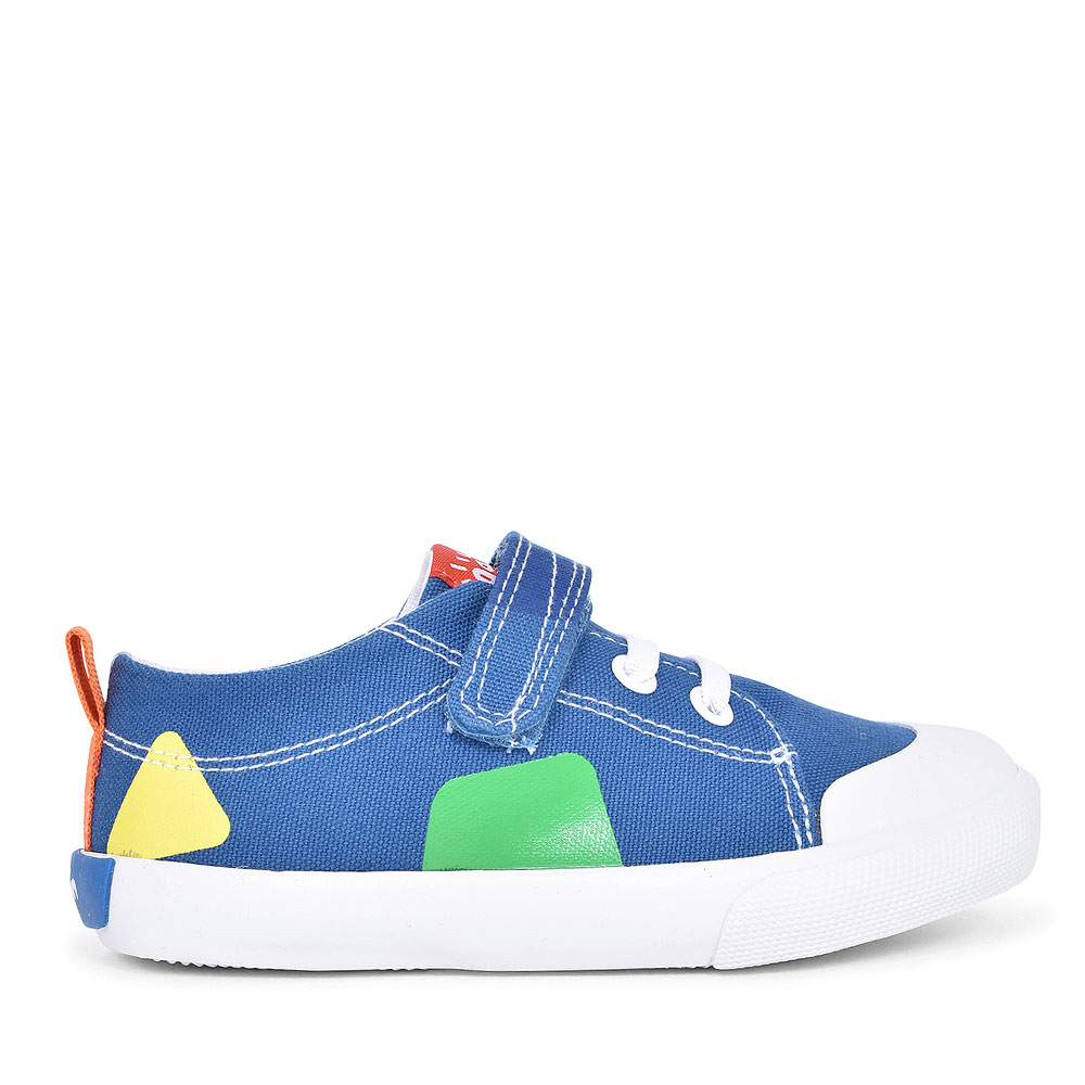 192806 CANVAS VELCRO SHOE FOR BOYS in BLUE