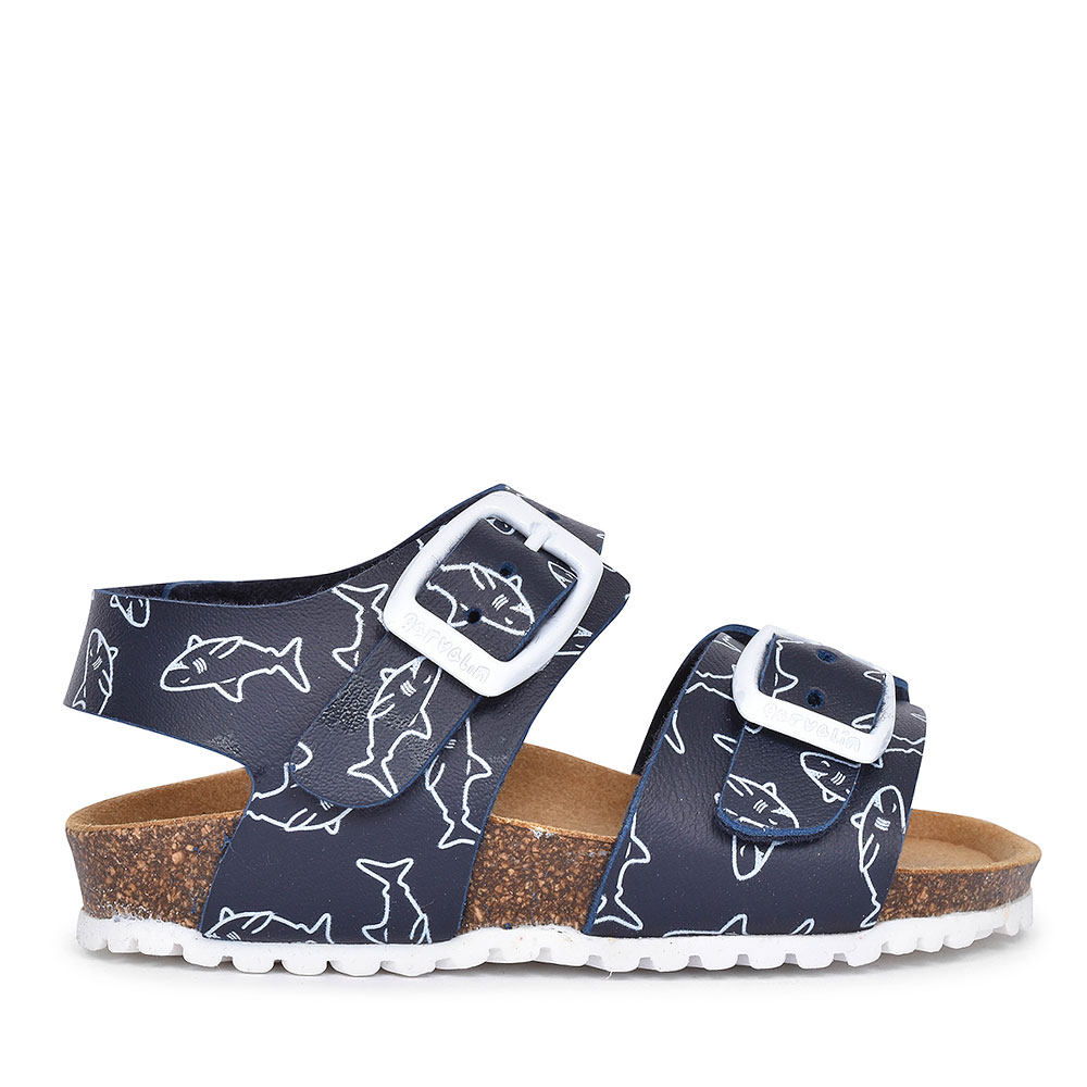192482 DOUBLE BUCKLE WALKING SANDAL FOR BOYS in NAVY