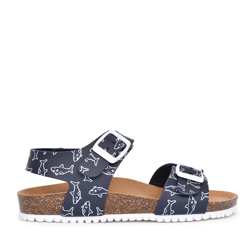 182482 DOUBLE BUCKLE WALKING SANDAL FOR BOYS in NAVY