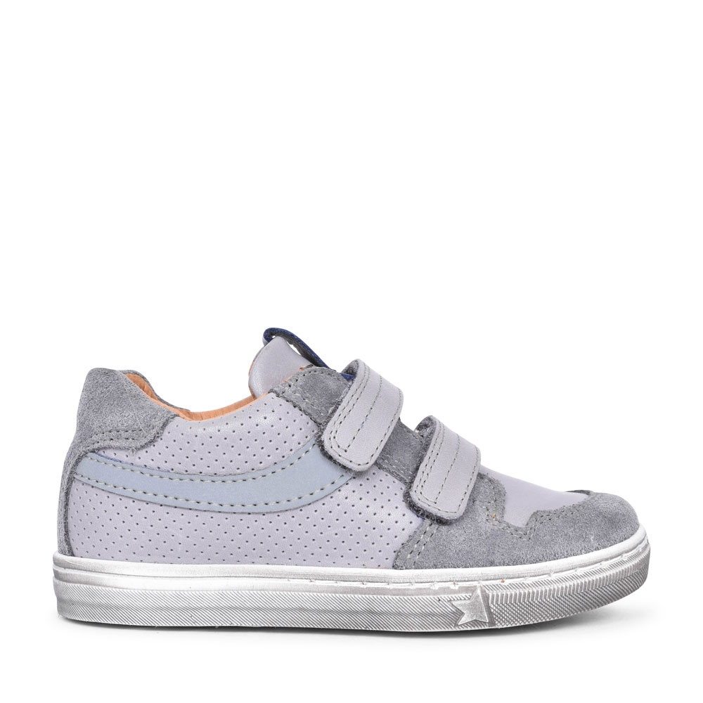 G2130170-01 VELCRO HIGH TOP SHOE FOR BOYS in GREY